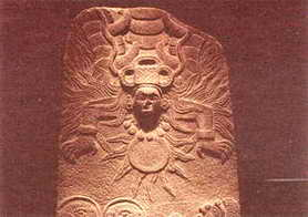 Mayan serpent sun god
