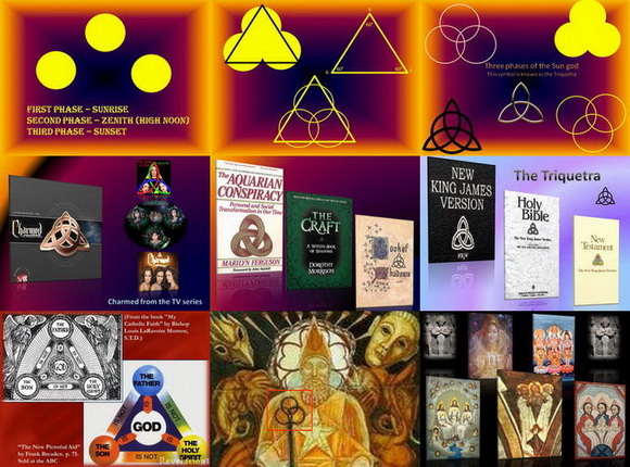 Trinity and sun worship and the triquetra